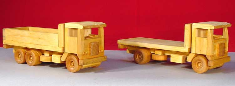 Plan# 141 Scale Model Series 1:27- 5 & 10 Ton Cab Over Trucks Purchase the  One Plan and Build Two Trucks