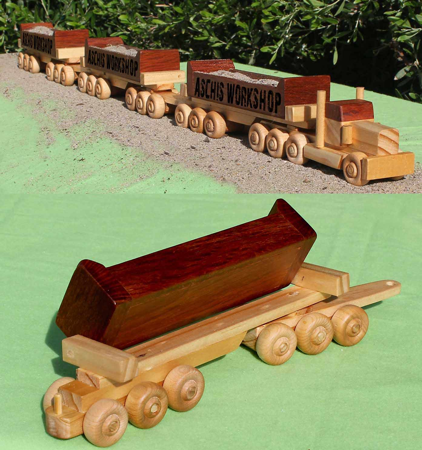 plan# 512 authentic toy-model of western australian iron ore road train.  check out the detail