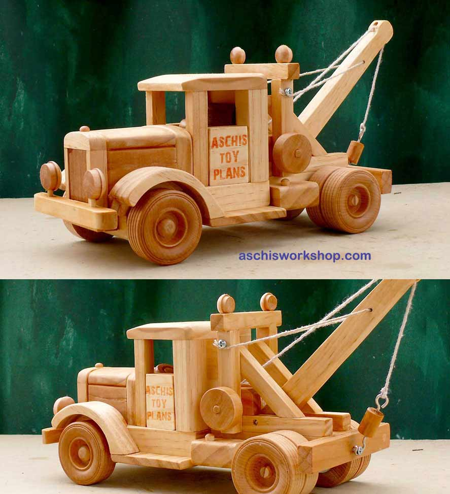plan# 230 tuff truck tow truck from the 1930's. this is a superb model to  build for the wall unit or as a special gift and is sturdy enough to be